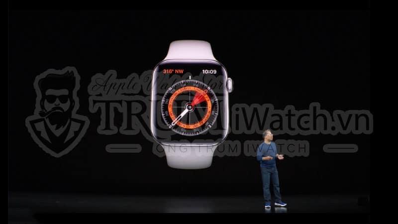 Apple Watch Series 5 được tích hợp thêm la bàn