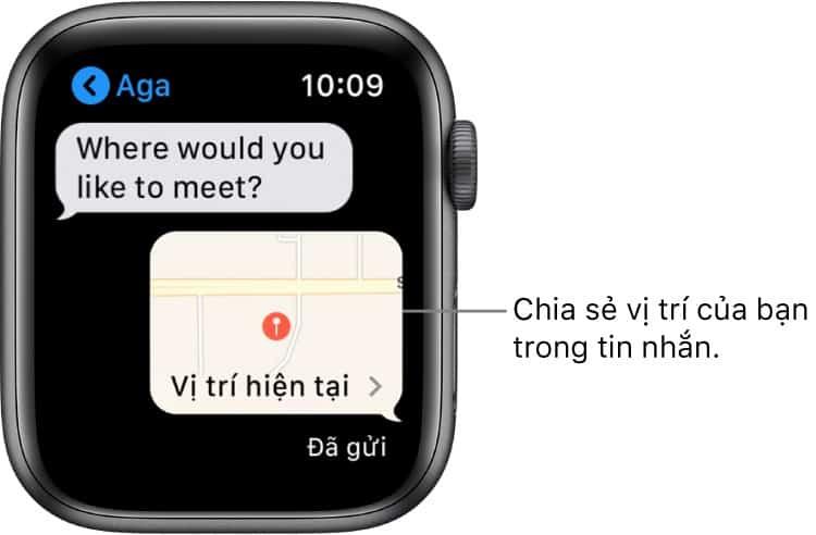 chia se vi tri apple watch - Nhắn tin trên Apple Watch: Hướng dẫn từ A đến Z cho người mới sử dụng