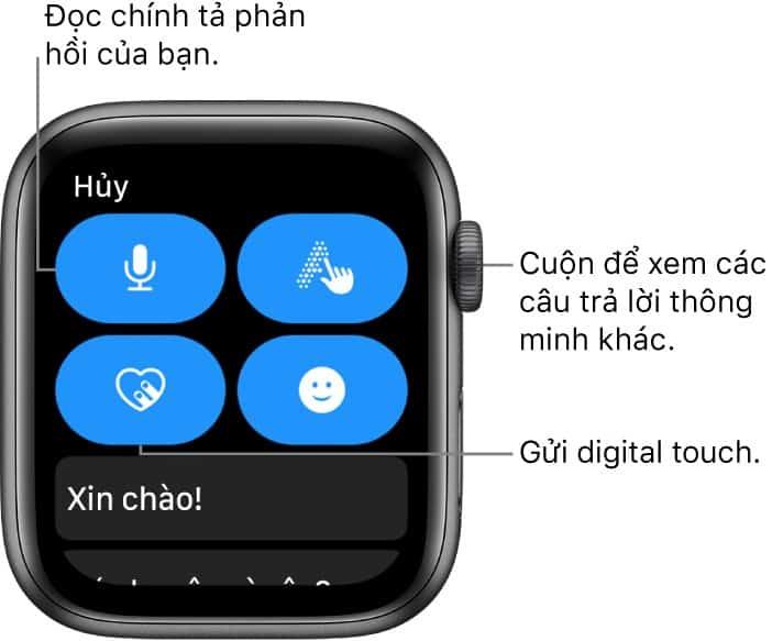 tra loi tin nhan 1 - Nhắn tin trên Apple Watch: Hướng dẫn từ A đến Z cho người mới sử dụng