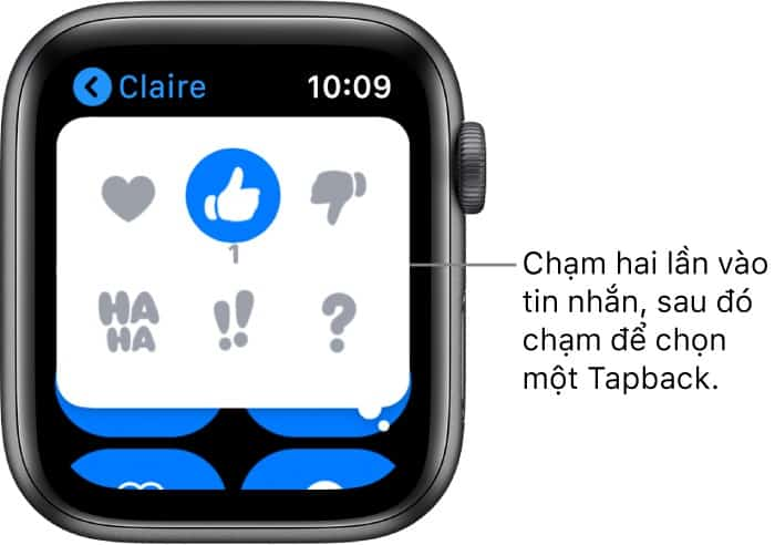 tra loi tin nhan 2 - Nhắn tin trên Apple Watch: Hướng dẫn từ A đến Z cho người mới sử dụng