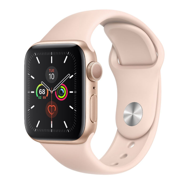 Apple Watch Series 5 Vang Hong - Apple Watch Series 5 GPS 40mm viền nhôm dây cao su - NEWSEAL